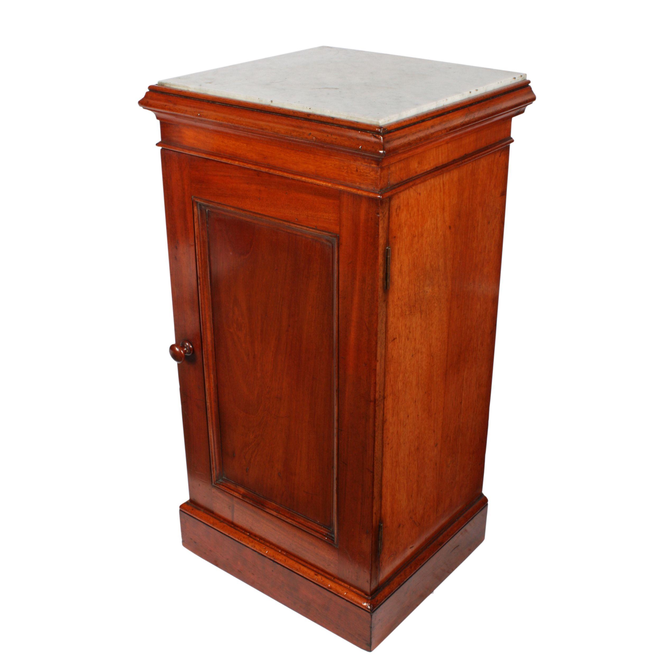 Victorian Marble Top Bedside Cabinet Bedside Cabinet
