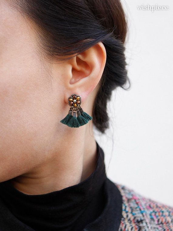 Valentine\u2019s Day gift Rainbow Earrings Stud earrings Polymer Clay Earrings