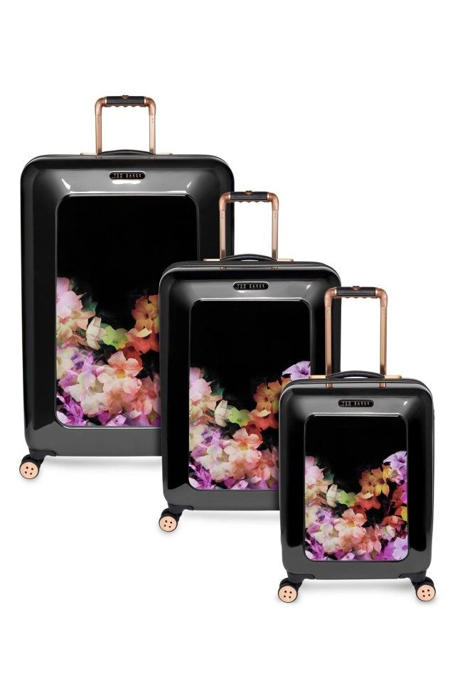 Ted Baker London 'Large Cascade Floral' Hard Shell Suitcase (32 ...