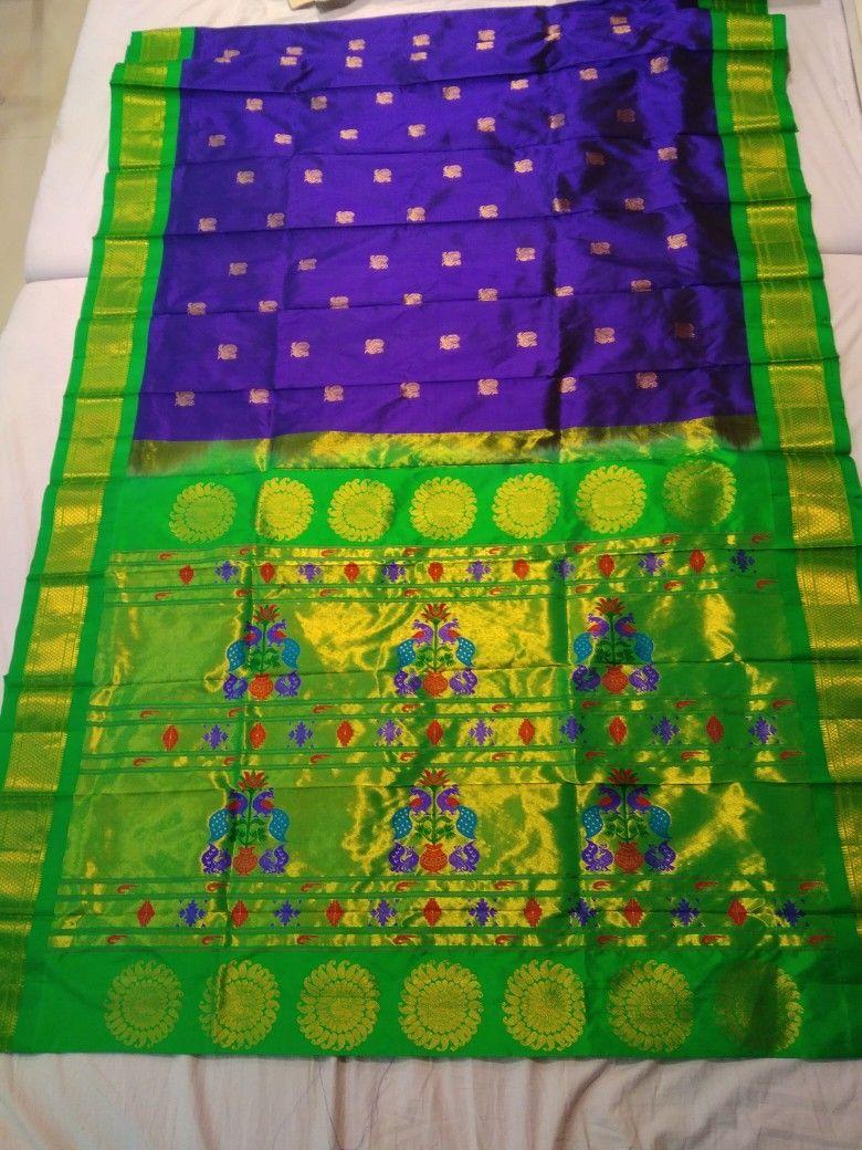 Yeola paithani saree images whatsup no  maharani paithani  pinterest