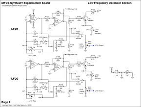 Schematics Voltage Controlled Low Frequency Oscillator By Yves Usson