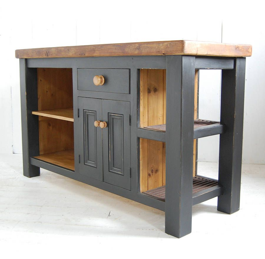 Outstanding large kitchen island legs with round wooden for Island cabinet plans