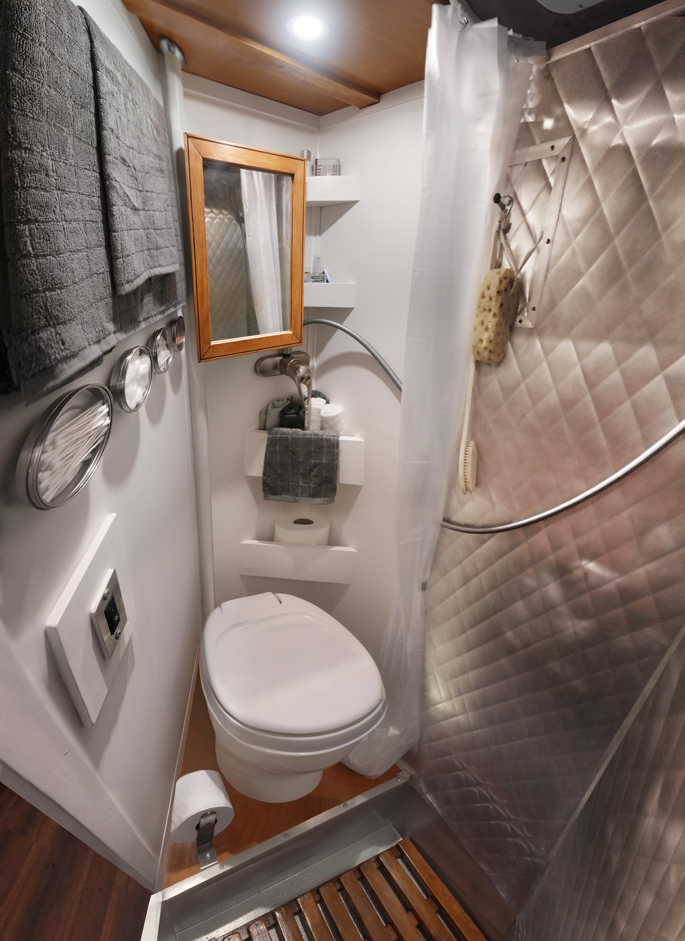 1965 Shasta Super 18 Camper Renovation DIY Vintage Home Bathroom
