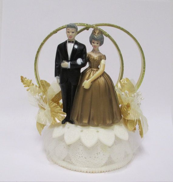 wedding cake toppers for 50th anniversary vintage wilton 50th anniversary cake topper golden 26468