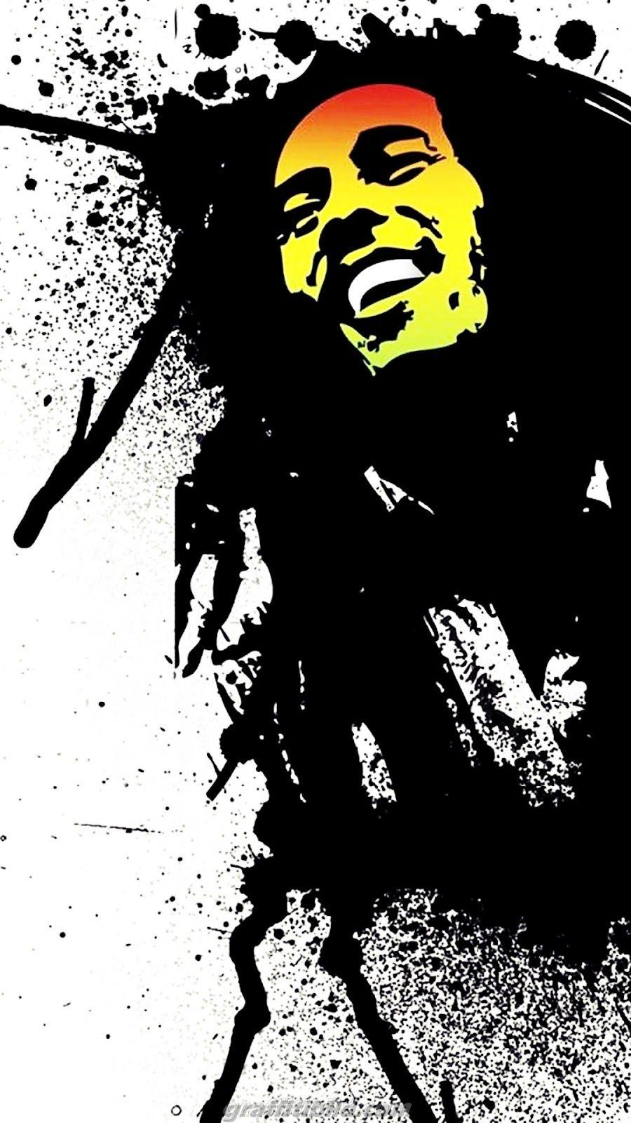 Cool Graffiti Wallpaper Hd For Android Bob Marley Kunst Graffiti Tapete Graffiti