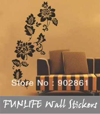 Cheap sticker decor, Buy Quality wall sticker art directly from China sticker Suppliers:      [funlife]-Removable Border Decorative Wall Sticker flower vine Home Wall Home Sticker Decal 50x70cm    &n