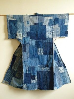 """This would be interesting if copied and made out of recycled denim as an art piece --   A Folk Textile from the Meiji Period (1868-1912) in an exhibit called """"Mottainai ('Waste Nothing'): The Fabric of Life, Lessons on Frugality from Traditional Japan"""""""