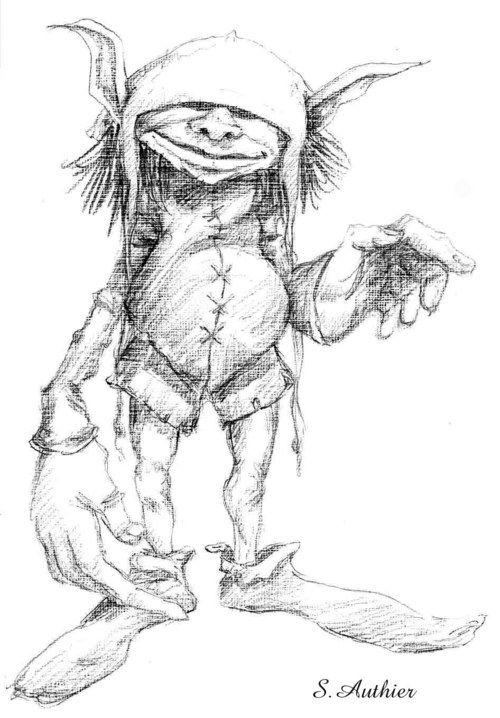 Farfadets faerie lutins gnomes farfadets - Dessin feerique ...