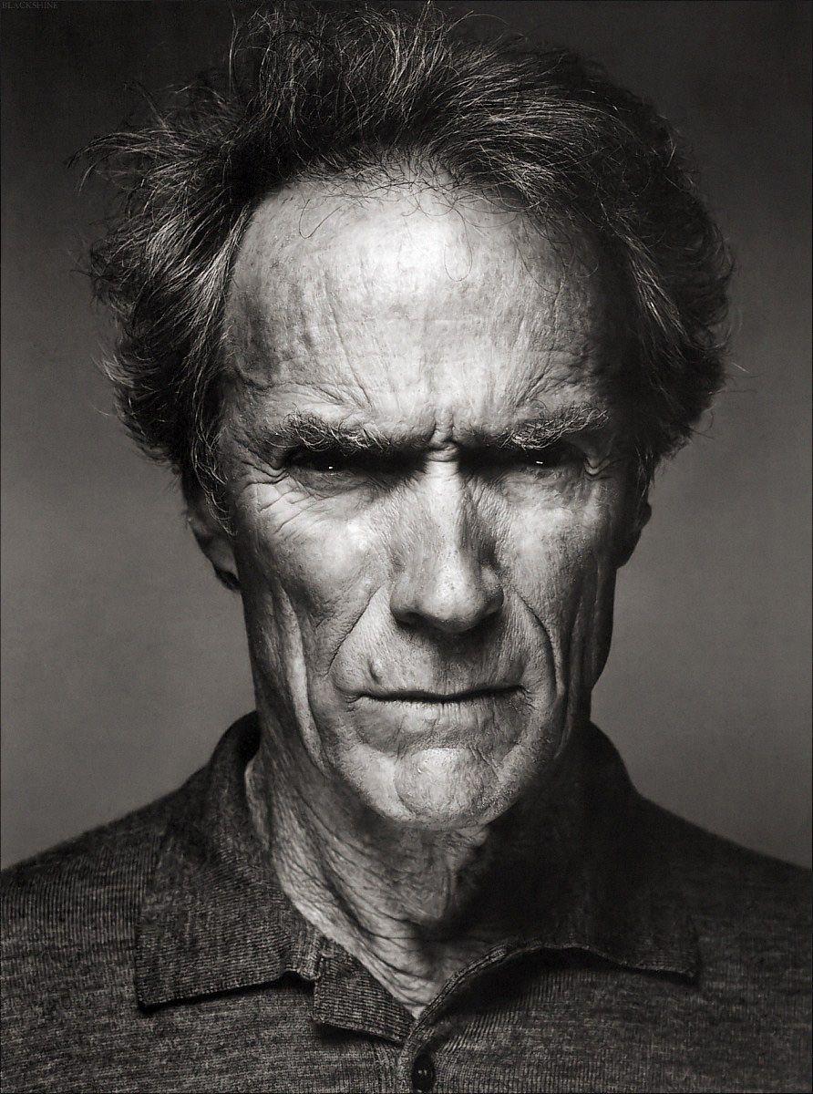 Clint Eastwood Magnifique Portrait Noir Et Blanc