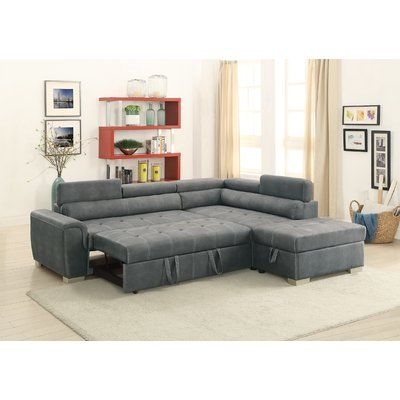 Cool Latitude Run Marrero Sleeper Sectional With Ottoman In 2019 Andrewgaddart Wooden Chair Designs For Living Room Andrewgaddartcom