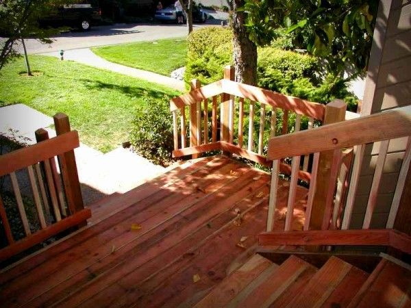 Best Redwood Deck Design And Stairs Building A Deck Deck 640 x 480