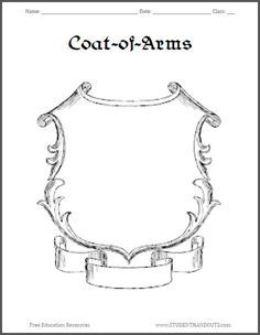 Coat Of Arms Template  Google Search  Family Crest