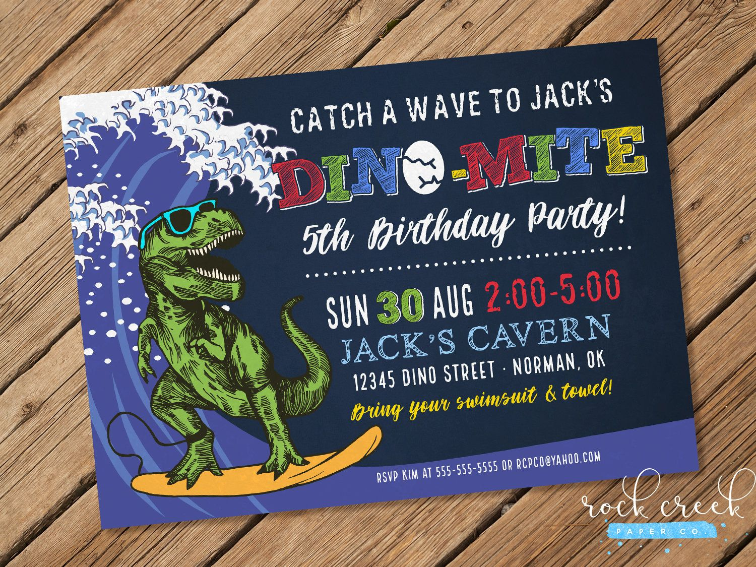 Surfing dinosaur invitation dinosaur birthday invitation beach surfing dinosaur invitation dinosaur birthday invitation beach birthday party pool party invitation printable birthday party invitation stopboris Images