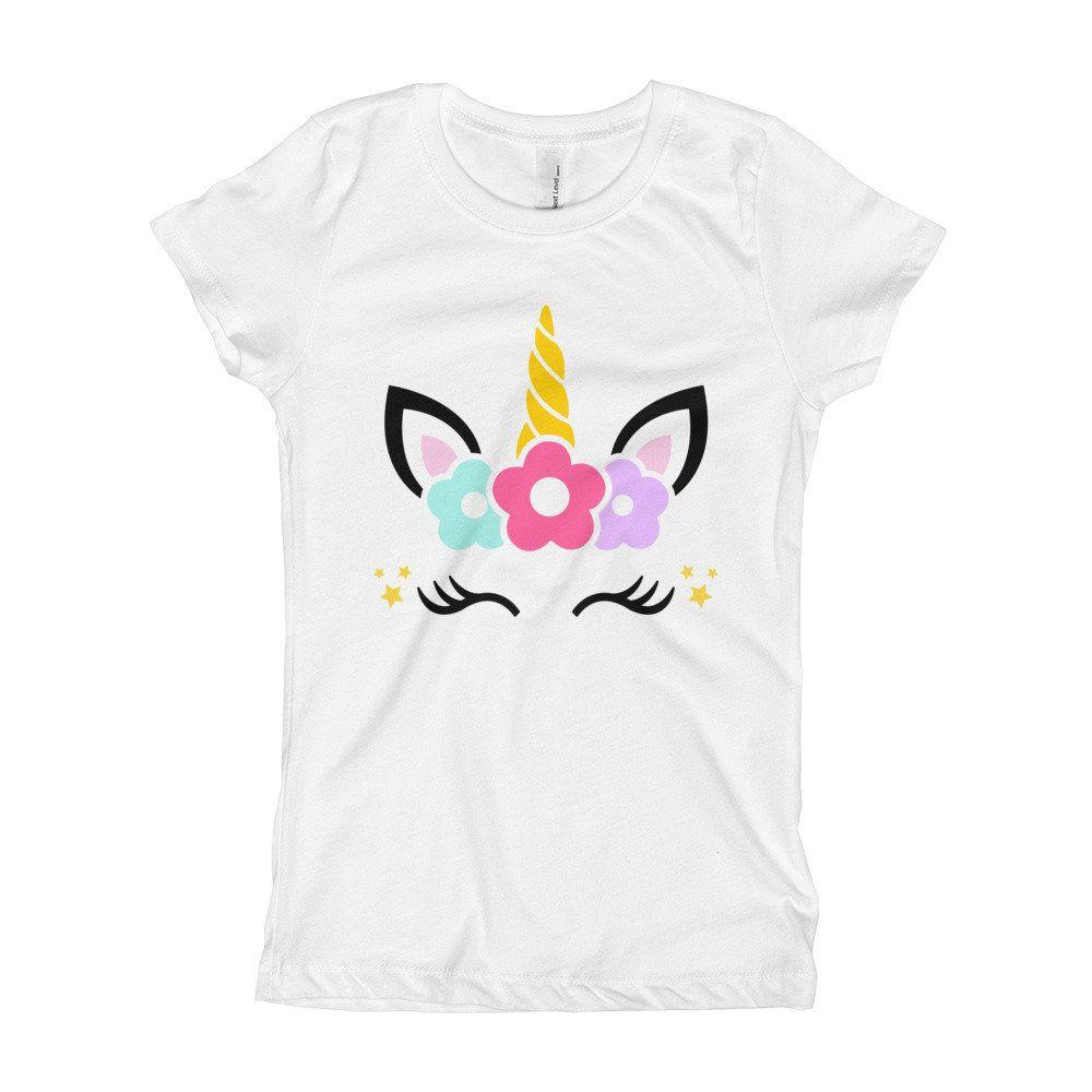 Girl's TShirt, Girls Unicorn TShirt, Unicorn Birthday