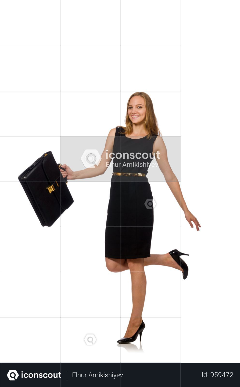 Woman Businesswoman Concept Isolated White Background Photo Business Women White Background Photo