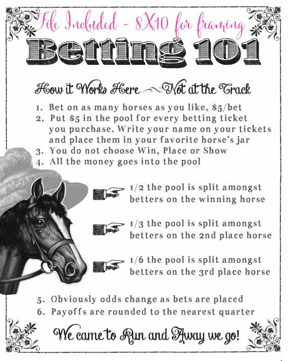 Kentucky derby horse betting ticket bet sports credit by phone number