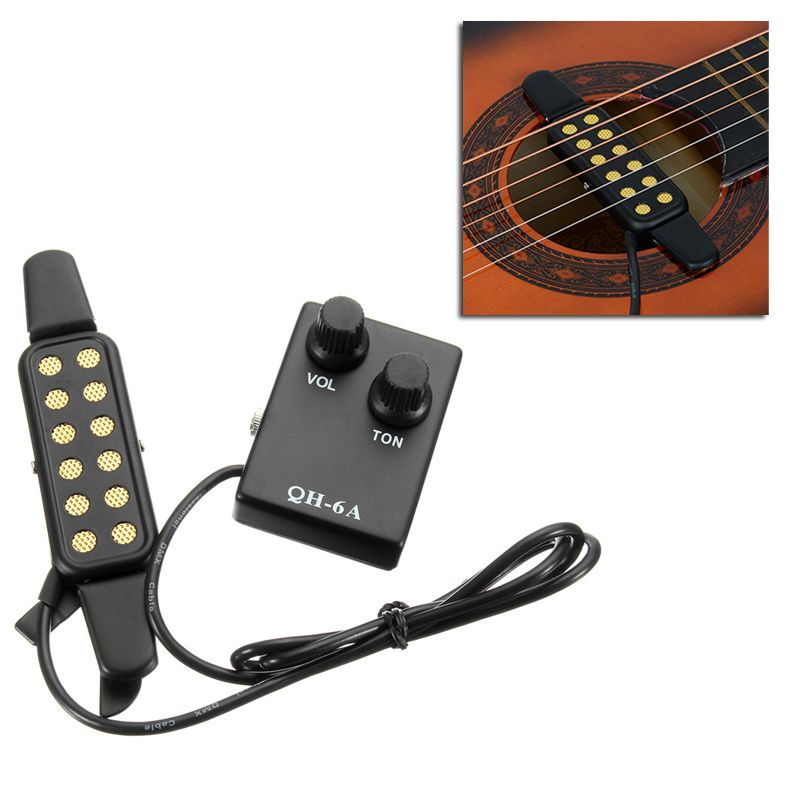 Us Warehouse Qh 6a Sound Hole Magnetic Preamp Eq Equalizer Tuner Pickup For Acoustic Guitar Guitar Tuners Acoustic Guitar Stand