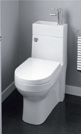 Hydra Omega 2 in 1 Space Saving Toilet Including Basin All in
