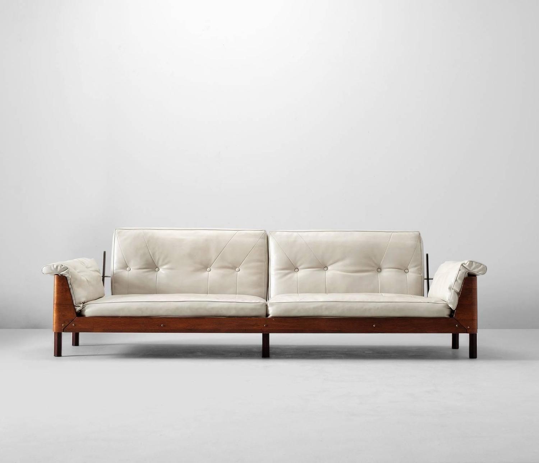 Fabulous Jorge Zalszupin Large Four Seat Rosewood Sofa Brazil 1960S Machost Co Dining Chair Design Ideas Machostcouk