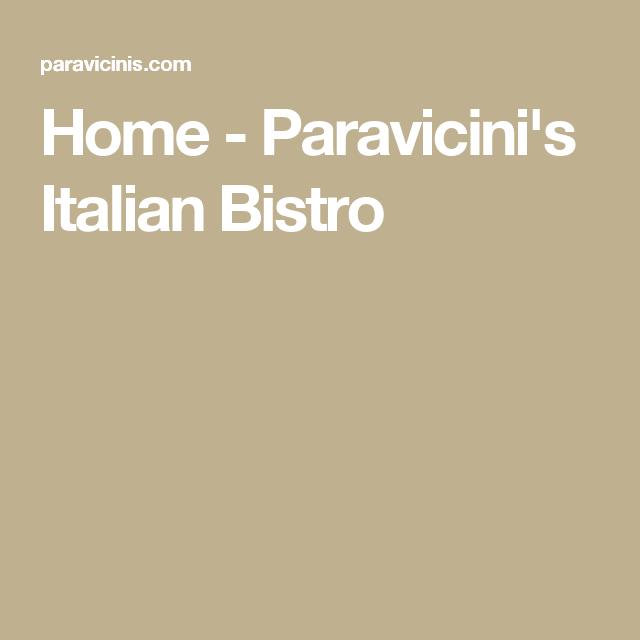 Home - Paravicini's Italian Bistro