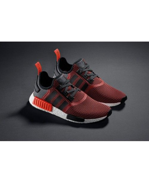 Adidas 2016 NMD R1 Men Black White Red Cheap Sale