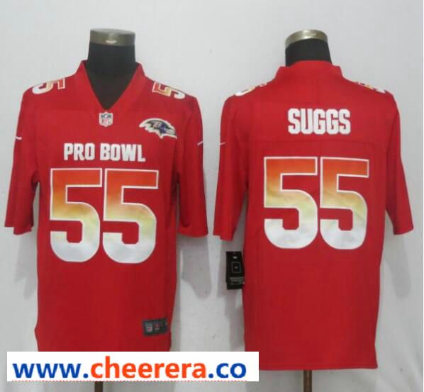 Nike AFC Ravens 55 Terrell Suggs Red 2019 Pro Bowl Limited Jersey ... 5ae0167d2