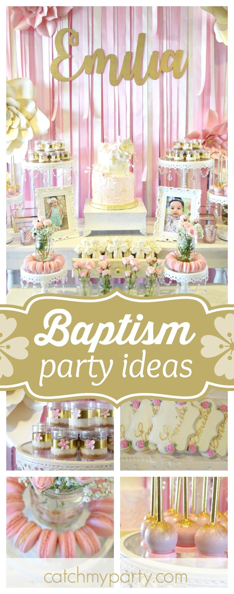 Baptism Emilias Pink Baptism Featured Parties From Catch My