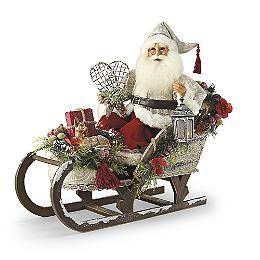 Winter Serenity Sleigh Santa