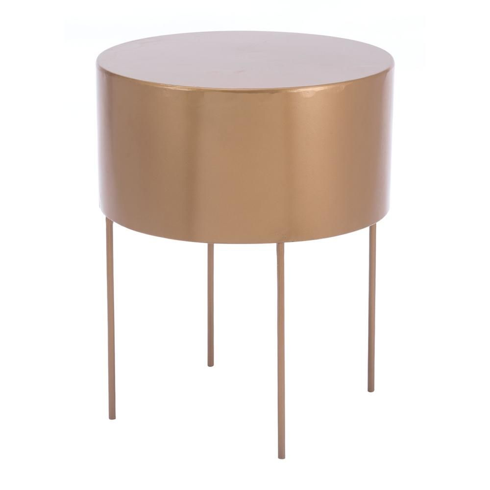 zuo bor gold end table products pinterest end tables gold end rh pinterest com