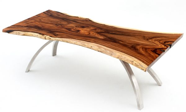 We handcraft contemporary rustic dining tables made from solid wood with  live edges. These natural wood dining tables are available in custom sizes.