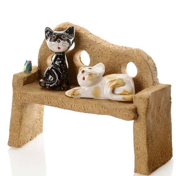 2 cats sitting on bench tabby cat black cat all things cat rh pinterest com