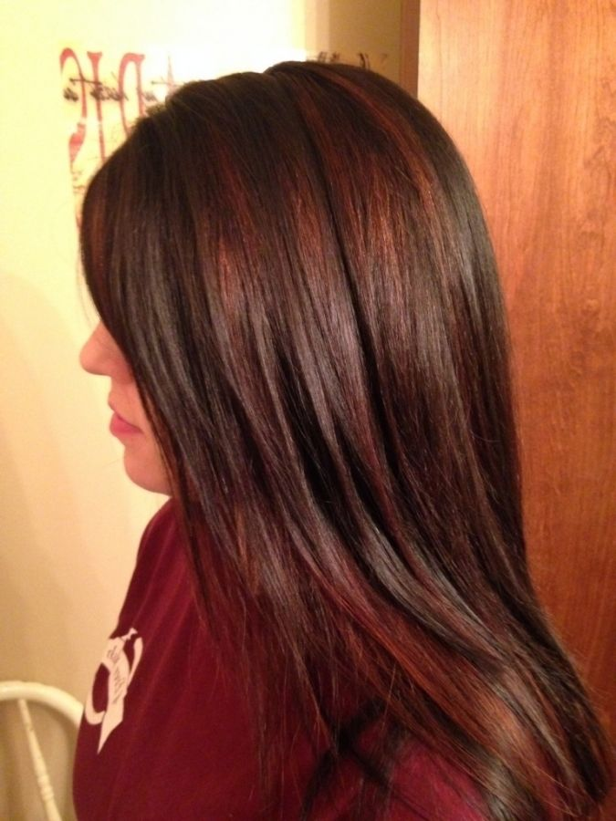 Chocolate Brown Hair Color With Red Highlights Best Rated Home