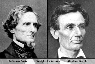 similarities between jefferson davis and abraham lincoln
