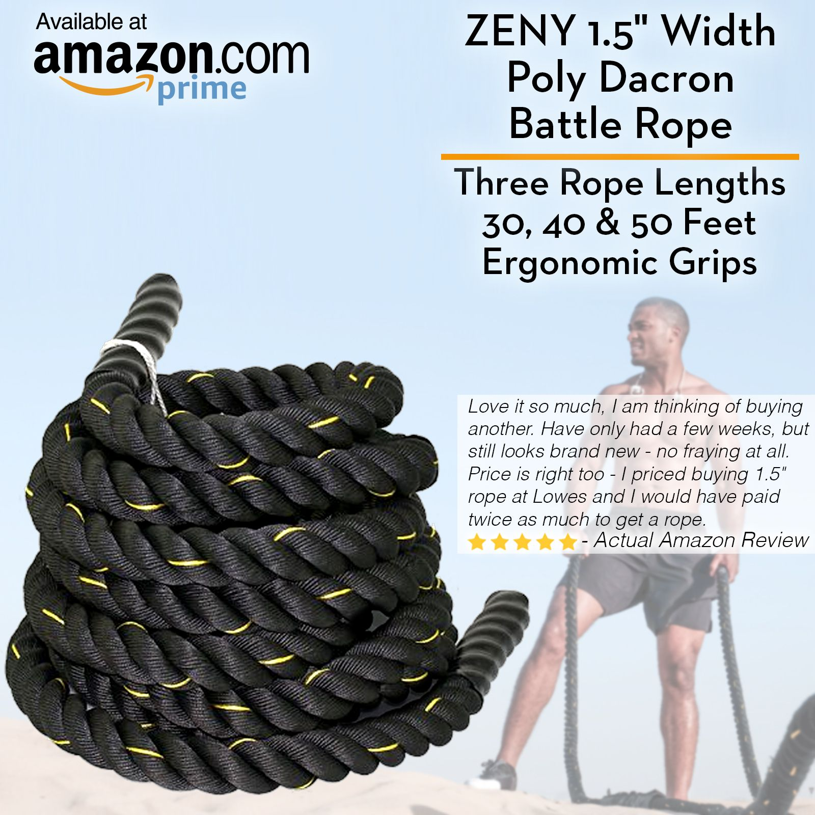 Achieve Intense Versatile Workouts With Ease With The Zenyproducts Poly Dacron Battle Ropes You Can Pack On Lean Core Strength Training Battle Ropes Dacron
