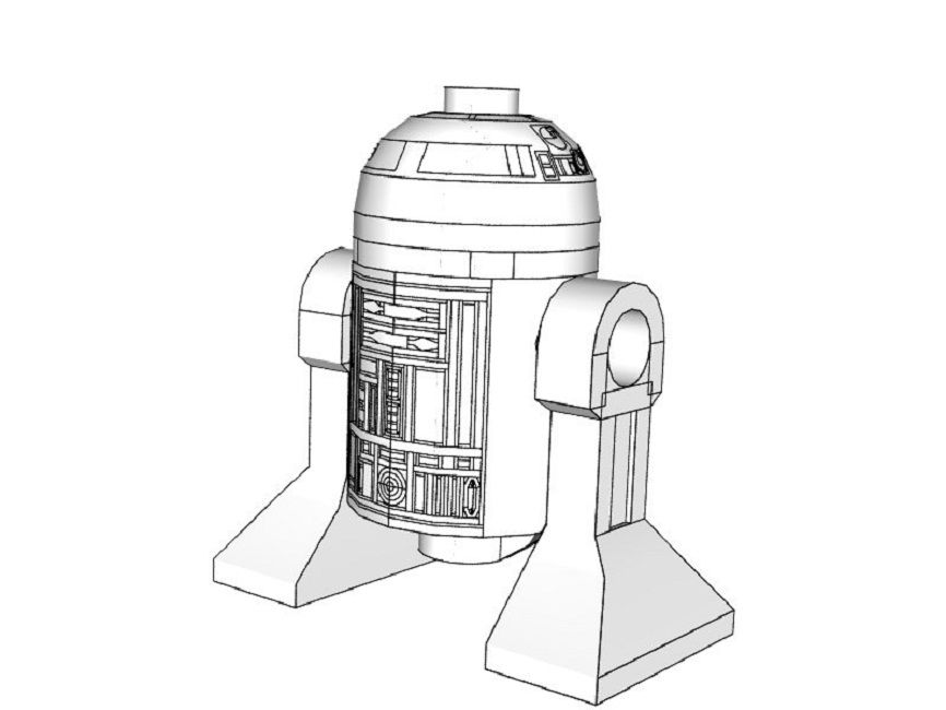 lego star wars coloring pages r2d2
