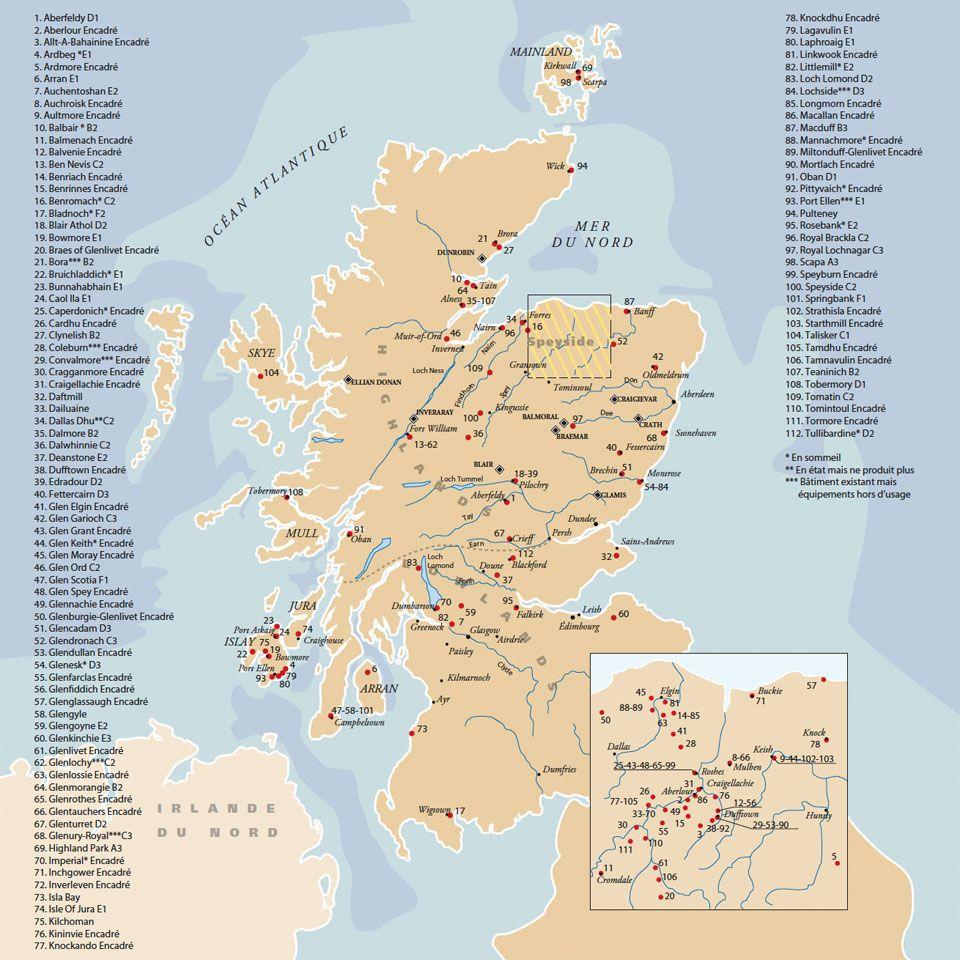 distillerie ecosse carte   Recherche Google   Scotland summer 2016