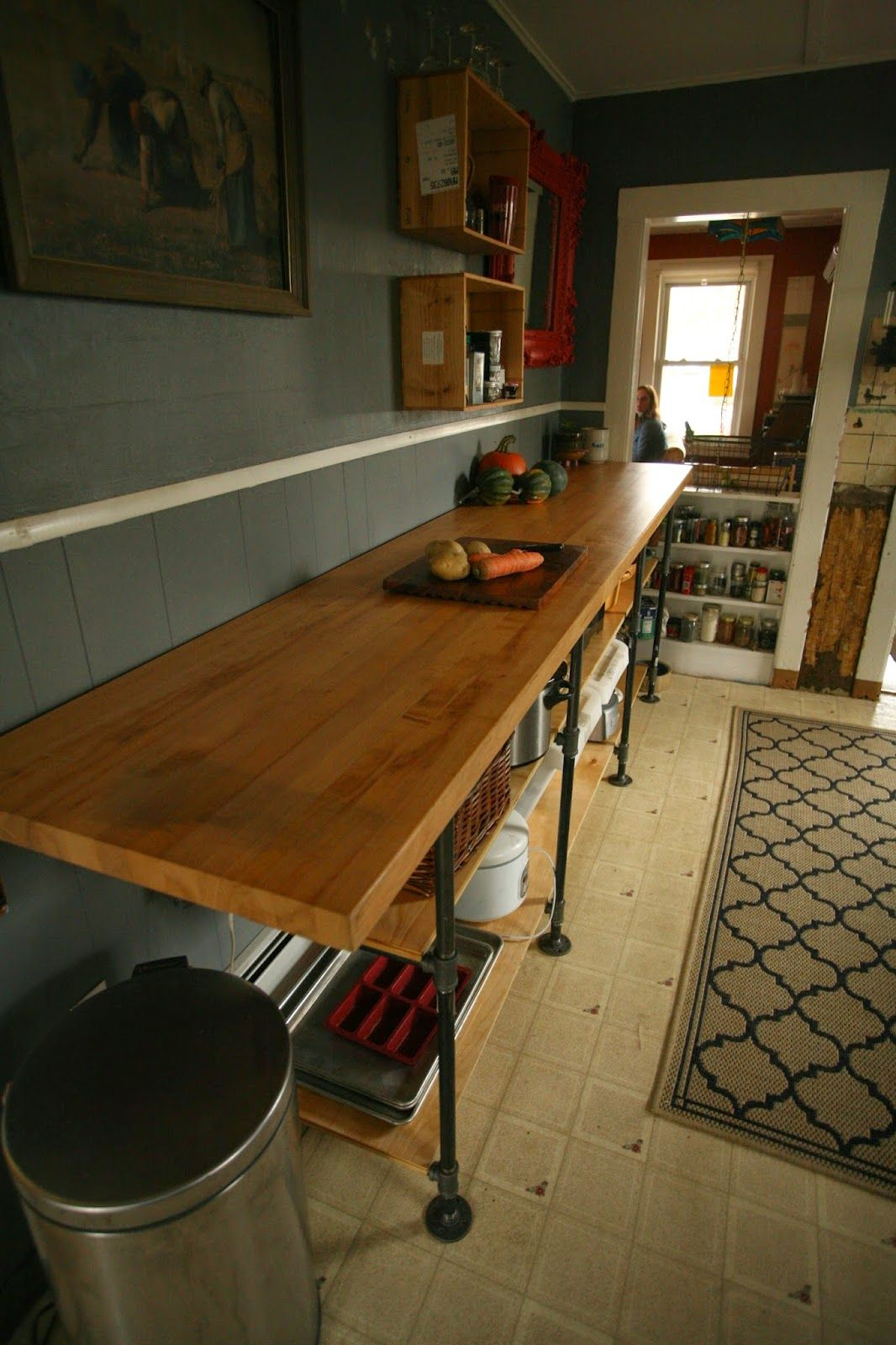 whittled down life diy black pipe kitchen counter house party in rh pinterest com
