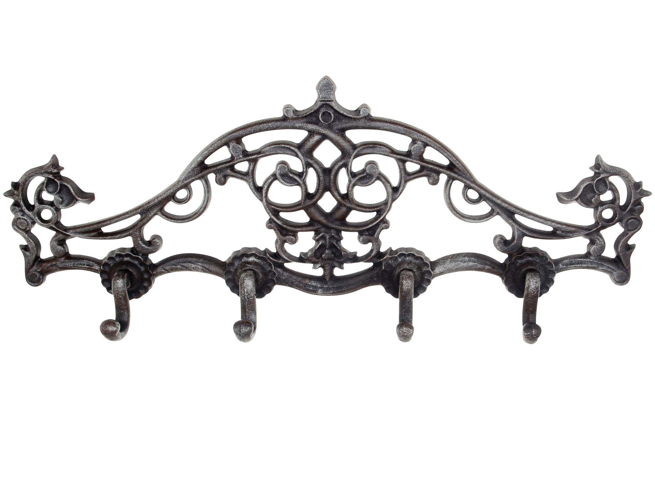 Wandgarderobe Garderobe Handtuchhalter Eisen Grunderzeit Antik Stil Braun 39cm Wandgarderobe Handtuchhalter Stil