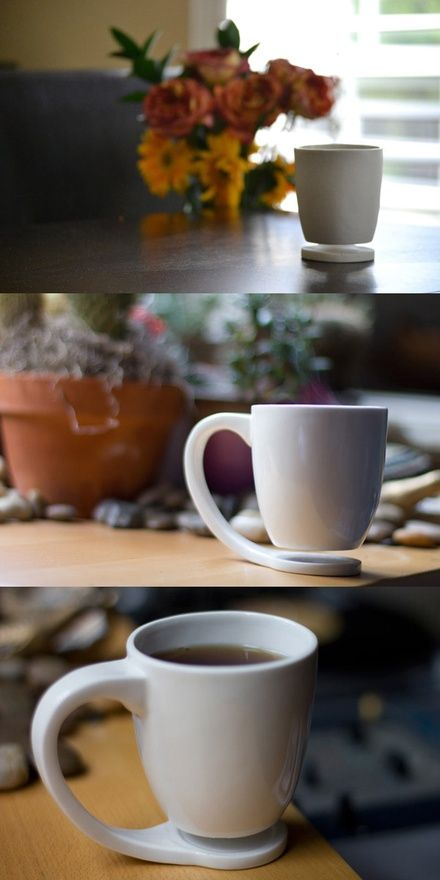 A hot beverage produces heat and slight moisture that's damaging to your furniture. The Floating Mug; it's novelty you can live with