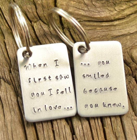 His And Her Key Chain Set When I First Saw You I By Curiouscatfish