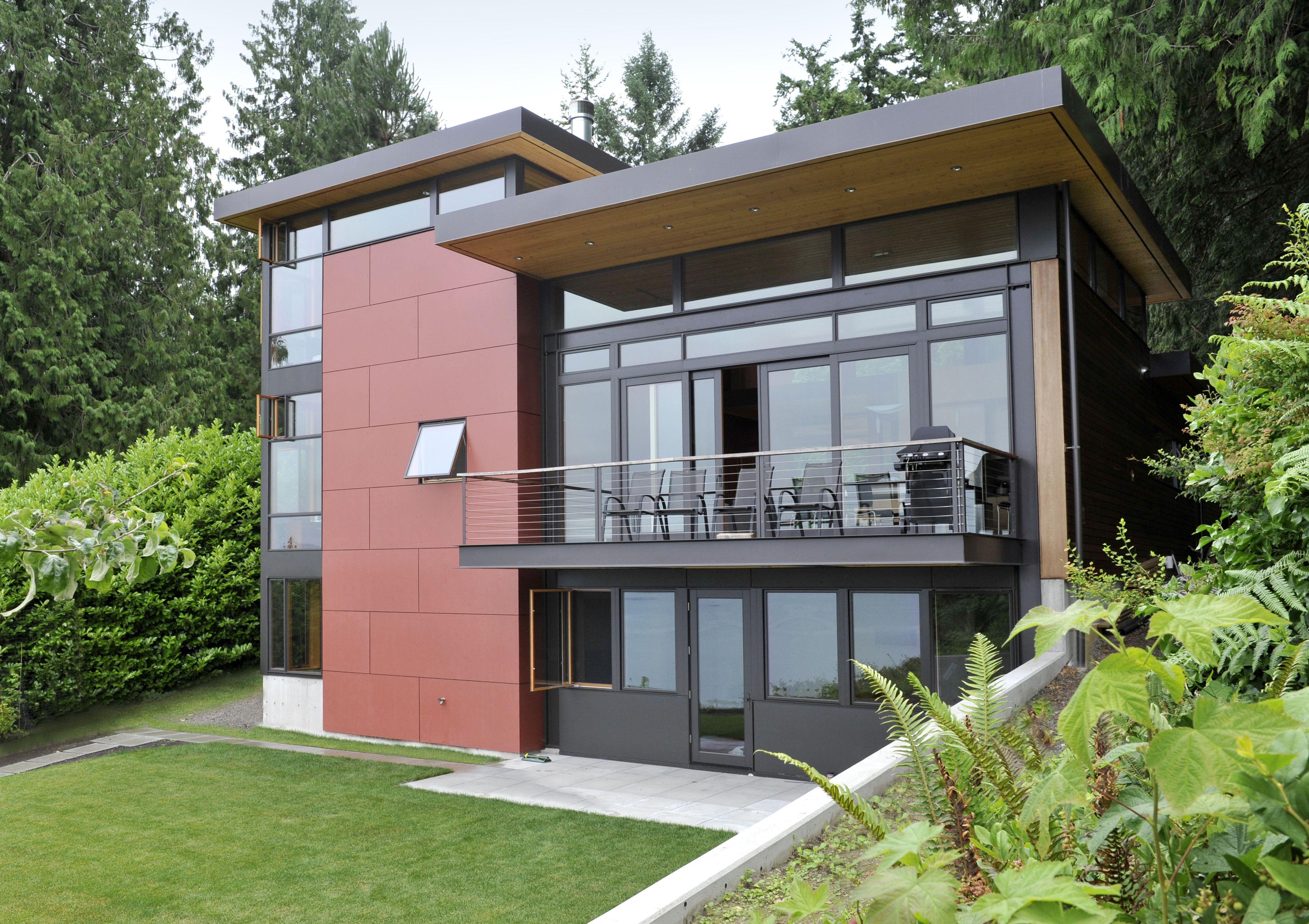 Wire Rail Deck Modern Home Design Wire