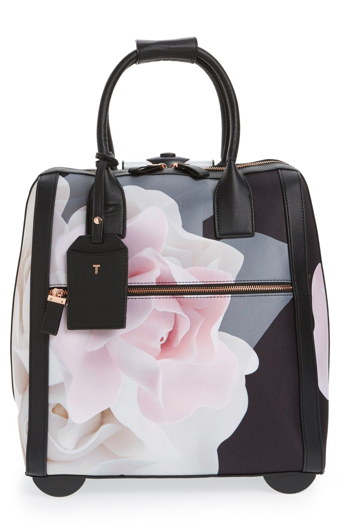 80ca65333 Free shipping and returns on Ted Baker London  Porcelain Rose - Odina  Travel  Bag at Nordstrom.com. With its lush photorealistic rose print and gleaming  ...