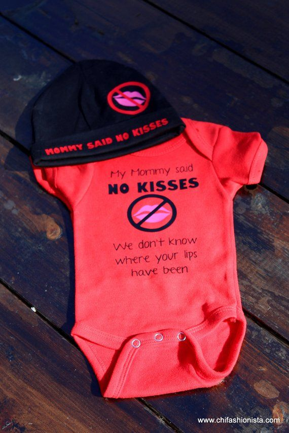 NO Kisses/ Newborn Shirt/ Preemie Shirt/ Baby Shir