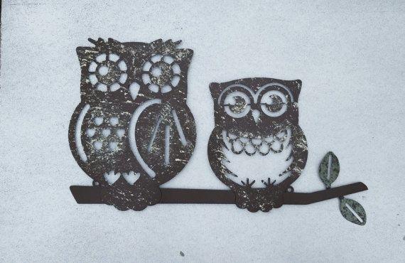 Metal Wall Art / Owl Home Decor / Owl Wall Art / By AshlynColelee