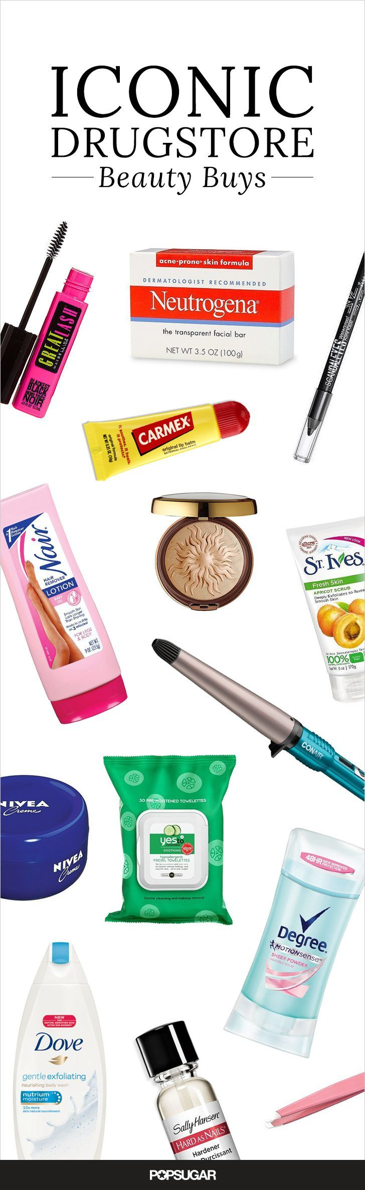 Iconic Drugstore Favorites Absolutely Everyone Needs to Try These are the iconic drugstore beauty products you need to try before you die! From hair tools to skin care and makeup to nail polish, they are all worth of being added to your shopping list.These are the iconic drugstore beauty products you need to try before you die! From hair tools to skin care ...