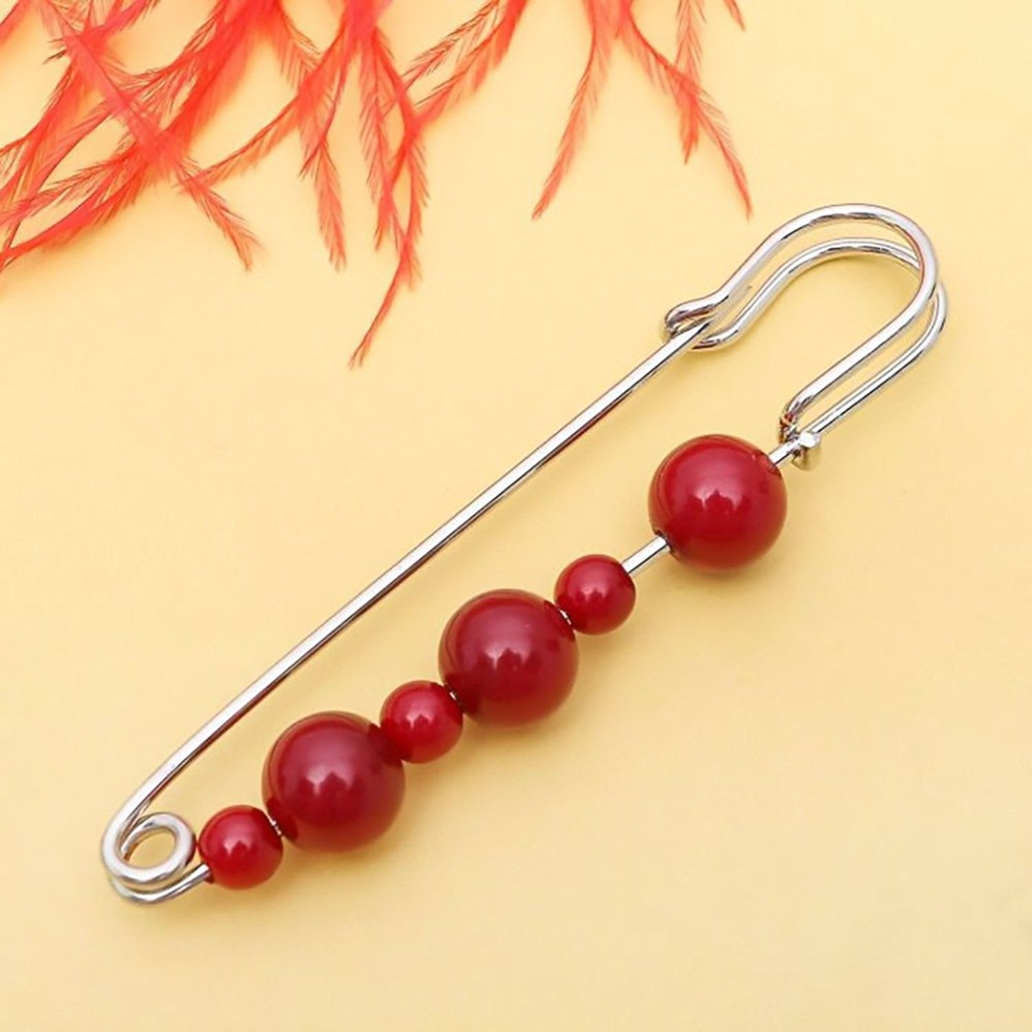 63a01189e Brooches & Pins, Fashion Women Jewelry Multicolored Brooch Safety Pin -  Garnet Silver - CP188NH2D49 #Brooches #Pins #Accessories #summeroutfits #  ...