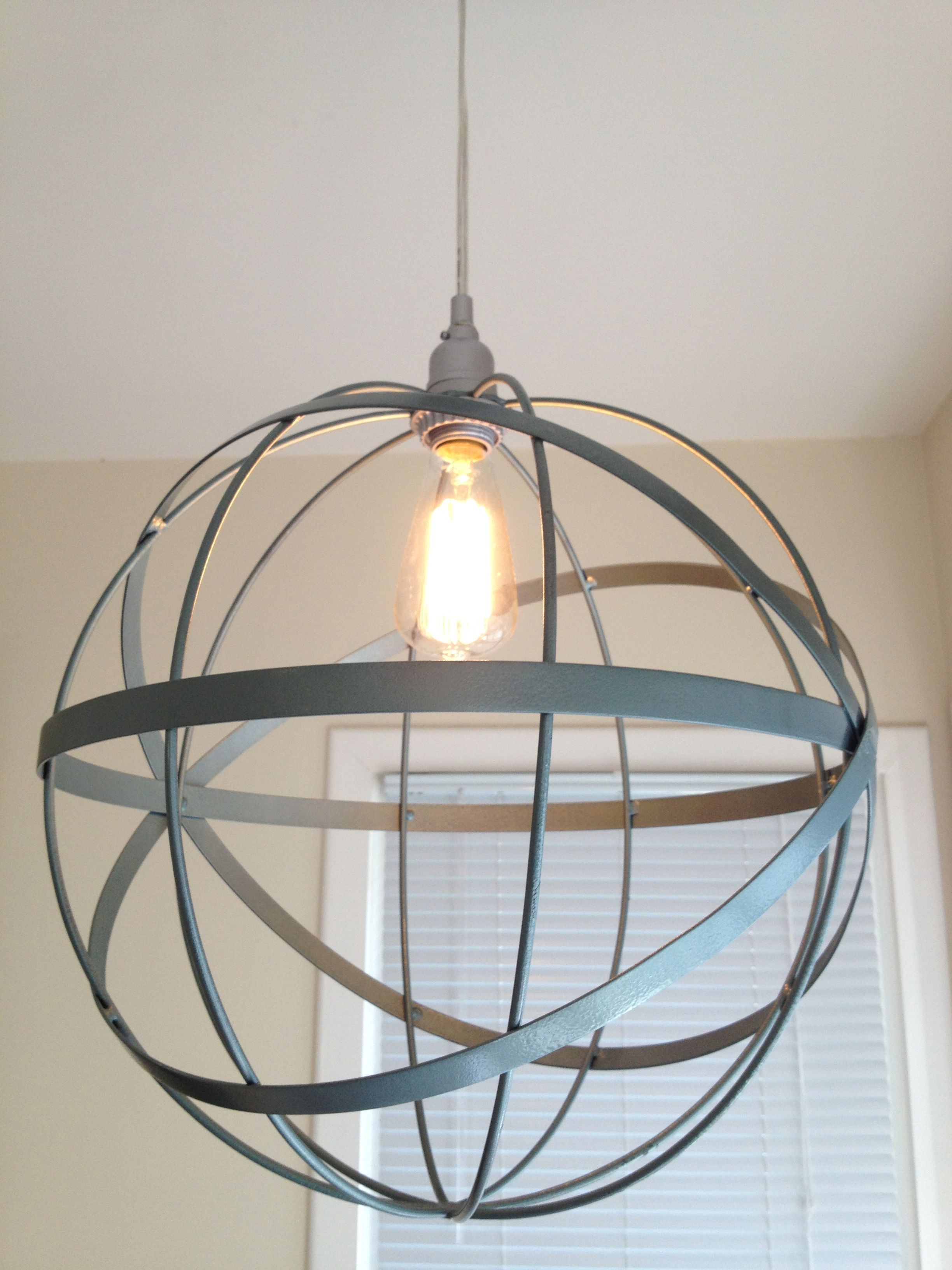 DIY orb pendant light Unfortunately it does
