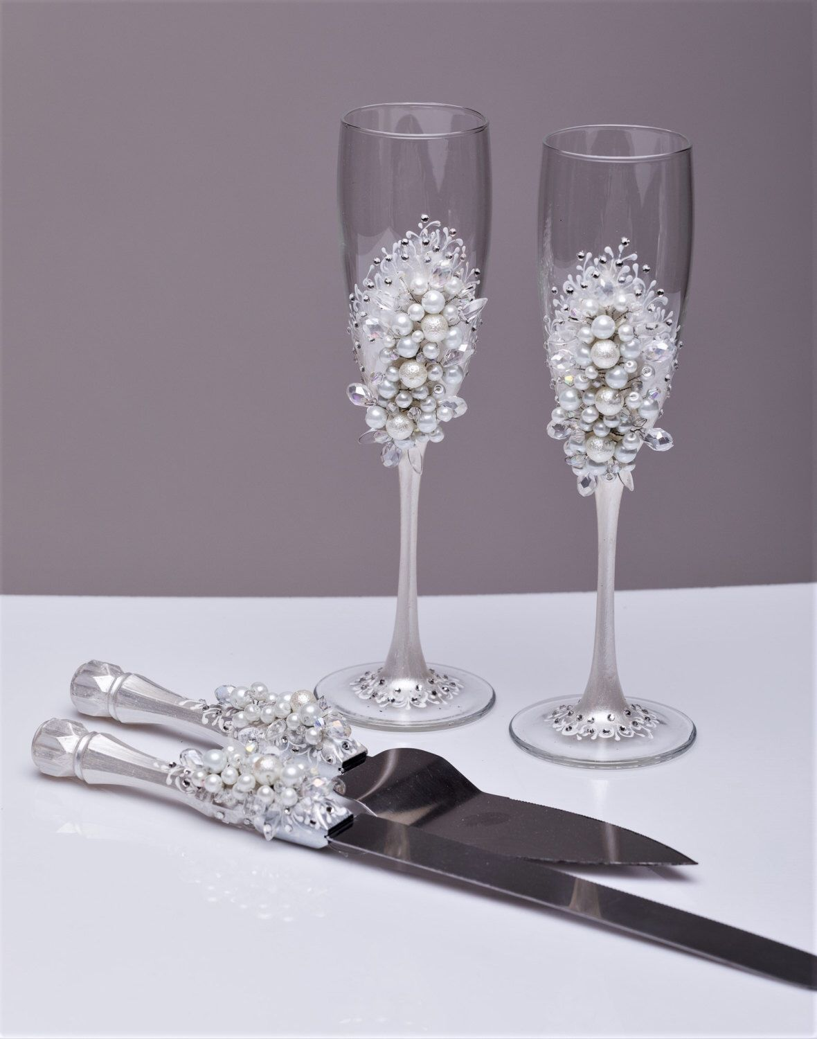 Wedding Flutes And Server Sets Uk  Mini Bridal