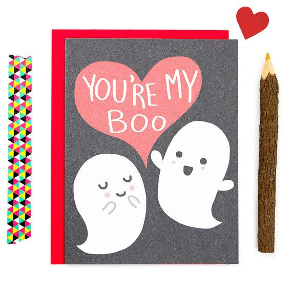 Cute Anniversary Card Halloween Card You're My Boo Ghost Love Impressive Funny Quotes For Valentines Day Cards