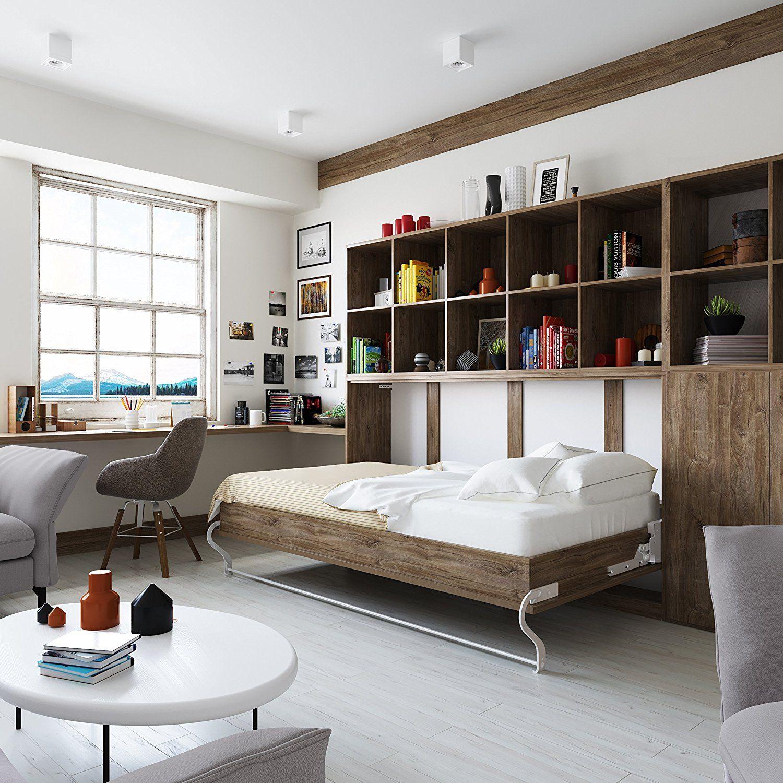 Smartbett Horizontal Retractable Bed 90 X 200 Cm Wardrobe Bed